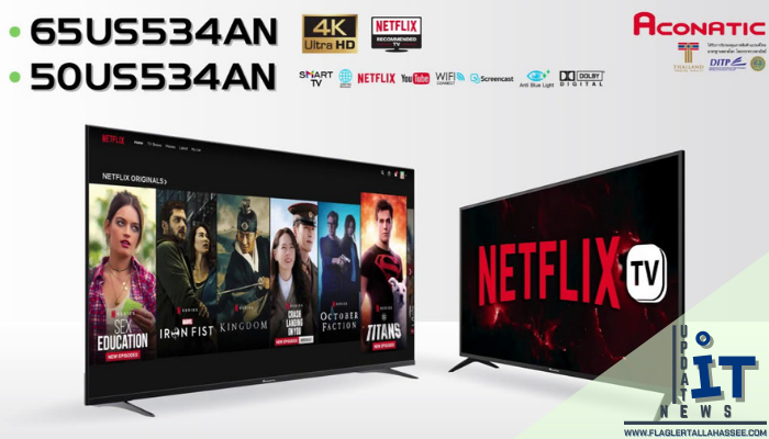 สมาร์ททีวี ACONATIC TV UHD LED 55 4K Smart รุ่น 55US534AN เป็นทีวีแบรนด์ไทยผลิตโดยคนไทยชื่อคุ้นหูเรามา มาพ้อมระบบปฏิบัติการแอนดรอย6.0